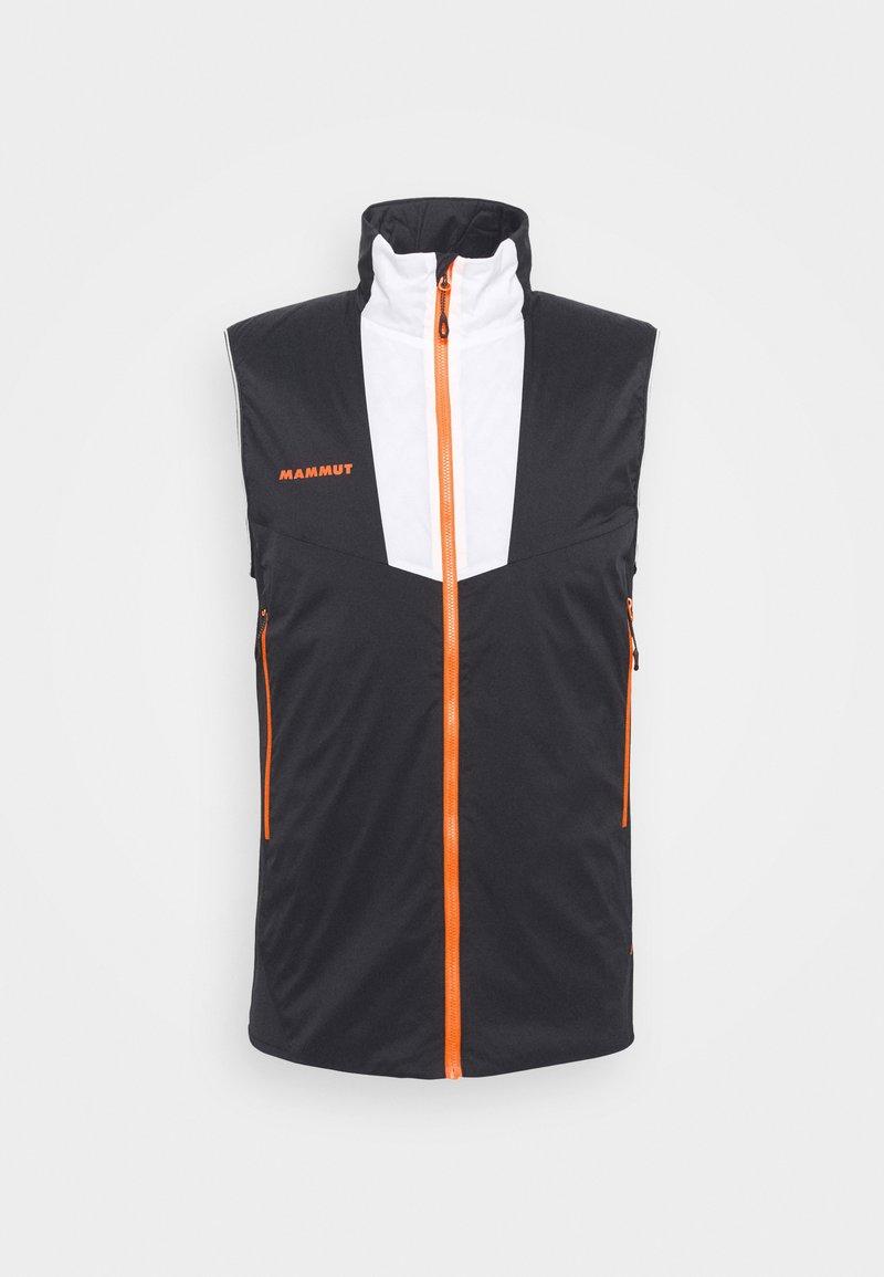 Mammut - RIME LIGHT IN FLEX VEST - Waistcoat - black/white/vibrant orange