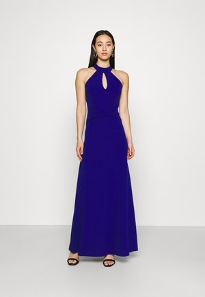 DANNY HALTER NECK DRESS - Trikoomekko - electric blue