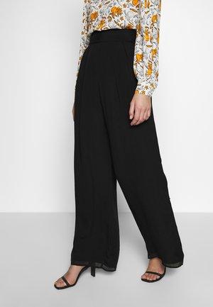 TRUDIE TROUSER - Spodnie materiałowe - black