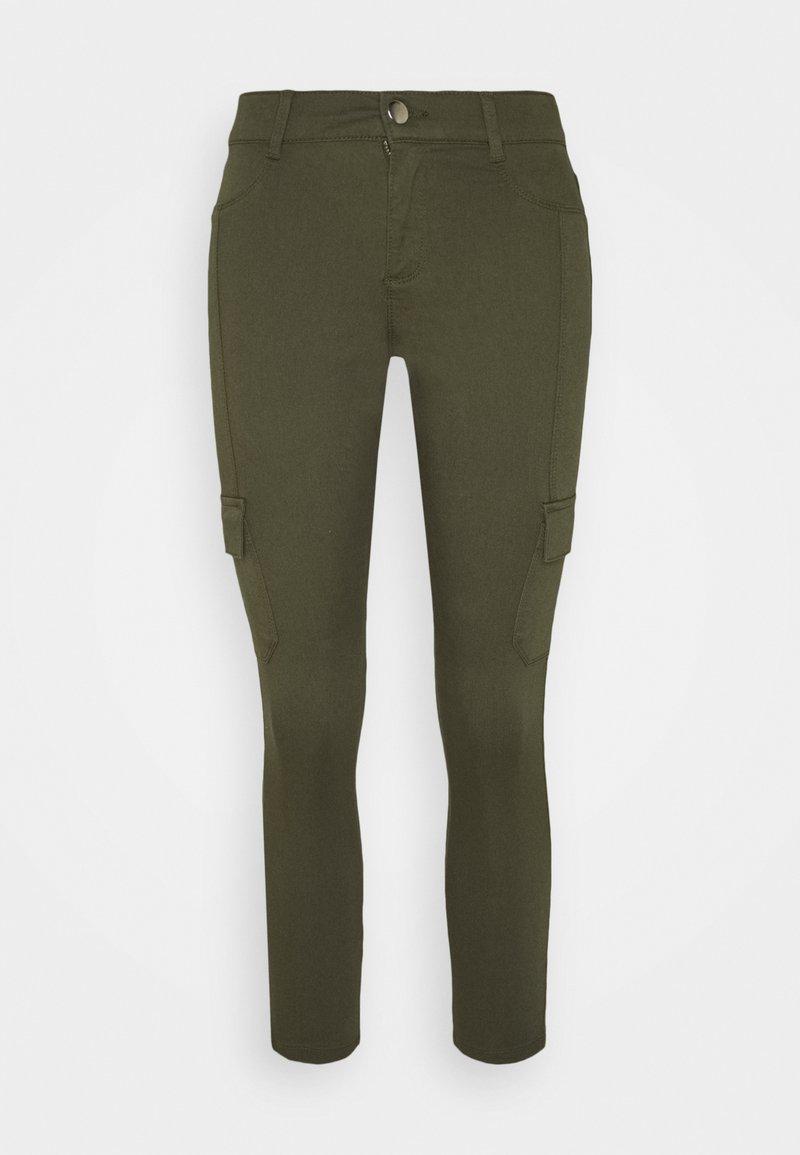 Dorothy Perkins Petite - CARGO POCKET FRANKIE - Jeans Skinny Fit - khaki