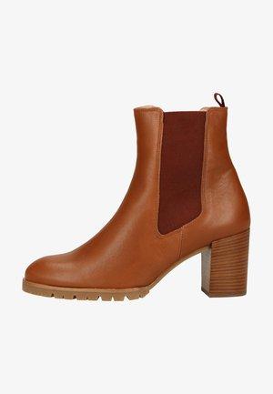 Platform ankle boots - nut