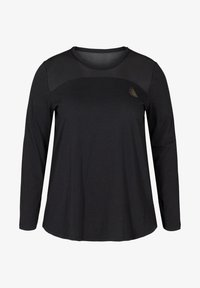 Active by Zizzi - MIT PRINTDETAILS - Long sleeved top - black - 3