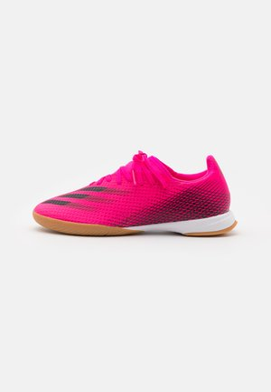 X GHOSTED.3 IN - Indoor football boots - shock pink/core black/screaming orange