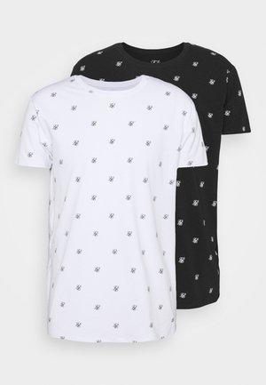LOGO LOUNGE TEE 2 PACK - Maglia del pigiama - white/black