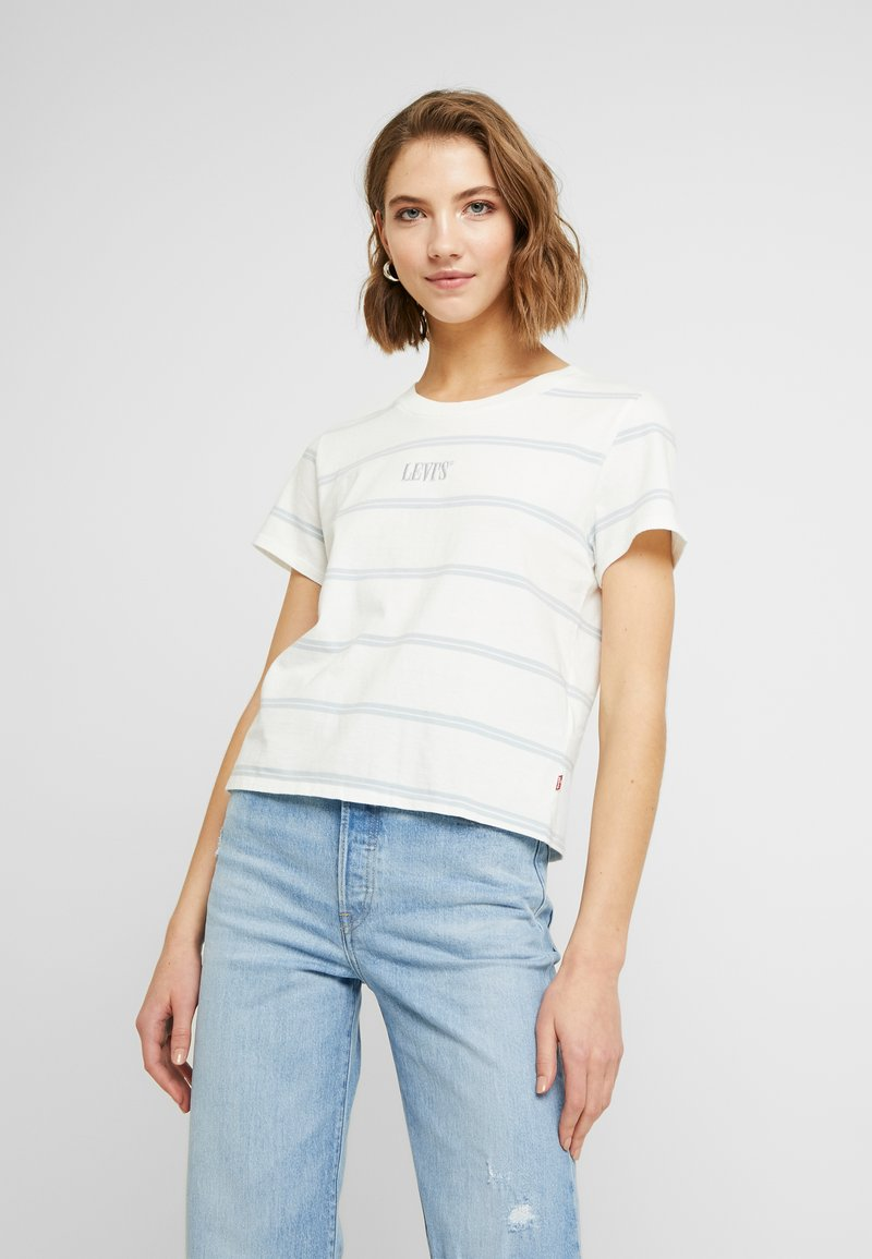 Levi's® - GRAPHIC SURF TEE - T-shirt z nadrukiem - cloud dancer