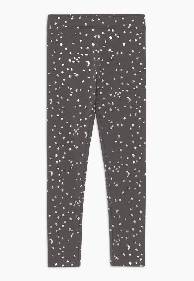 MOON STARS - Leggings - charcoal silver stars