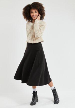 A-line skirt - noir intense