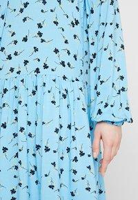 Moss Copenhagen - FRYD TURID DRESS - Shirt dress - blue/black - 5