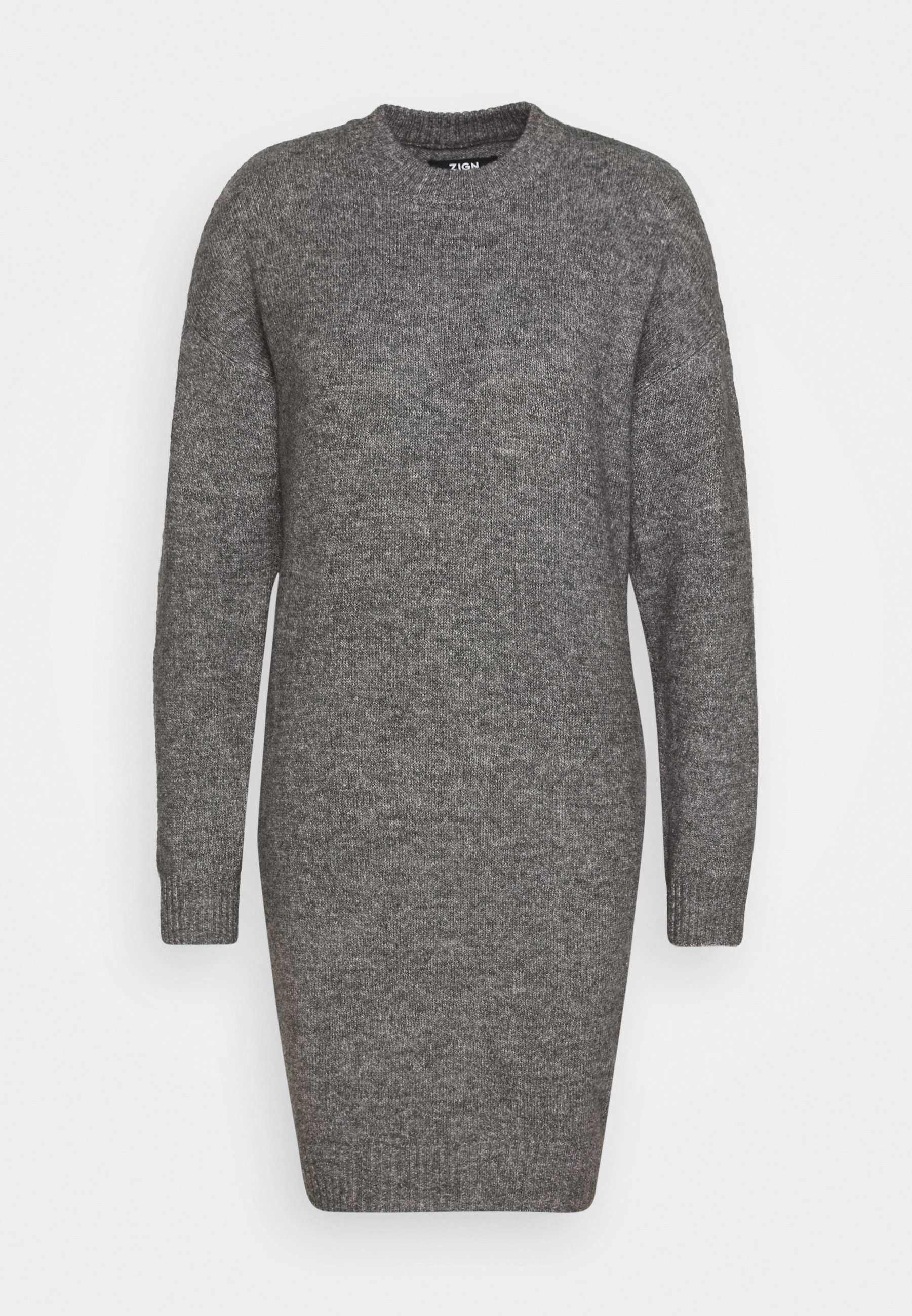 Zign Tall Vestido de punto - dark grey melange AH323