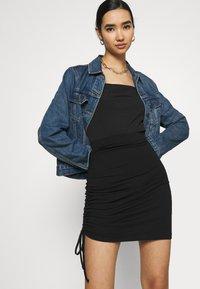 Even&Odd - Drawcord basic mini skirt - Pencil skirt - black - 4