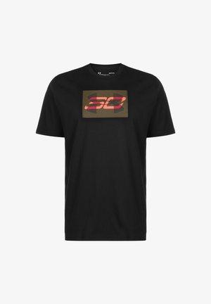 SC30 OVERLAY SS TEE - Print T-shirt - black