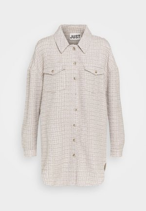 METZ - Button-down blouse - ice grey/stone mix