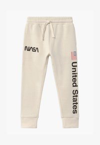 Cotton On - NASA SLOUCH - Tracksuit bottoms - dark vanilla - 0
