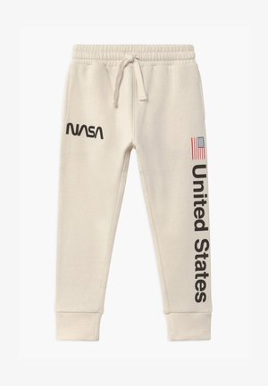 NASA SLOUCH - Tracksuit bottoms - dark vanilla
