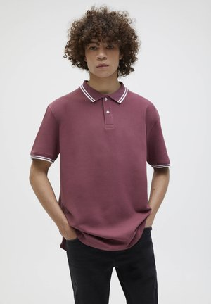 MIT FARBLICH ABGESETZTEM PATENTMUSTER - Polo shirt - bordeaux