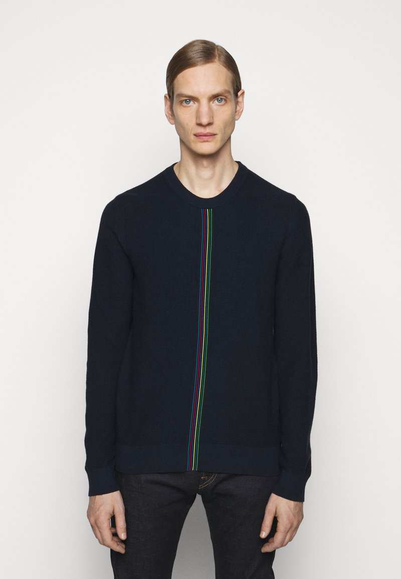 PS Paul Smith - MENS CREW NECK - Jumper - dark blue, red