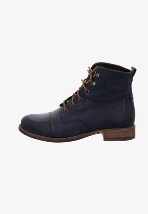 Lace-up ankle boots - royal