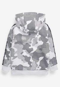 Next - CAMOUFLAGE PRINT - Zip-up sweatshirt - white - 1