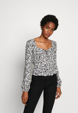 ALMA MONO SWEETHEART - Blouse - black