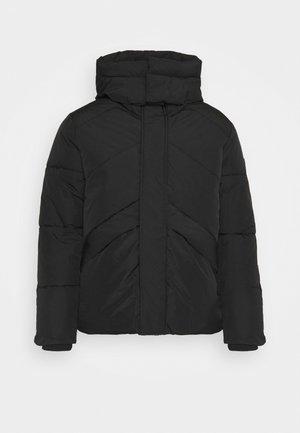 HOODED - Winter jacket - black