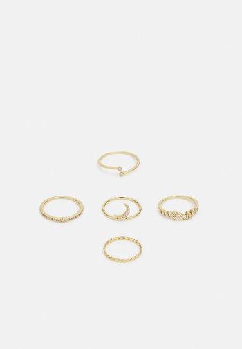 LARENDAVEN 5 PACK - Pierścionek - gold-coloured