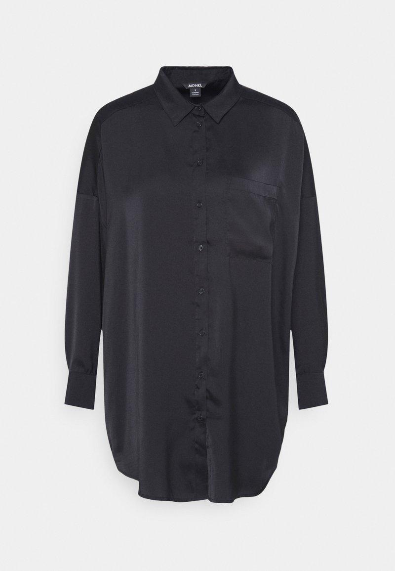 Monki - CATCHING BLOUSE UNIQUE - Skjorta - black