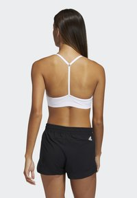 adidas Performance - BRA - Light support sports bra - white/black - 1