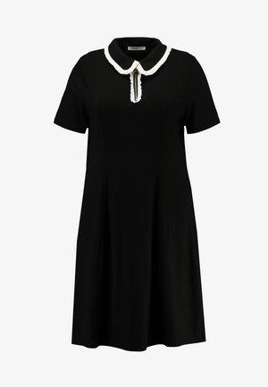 ZIP DRESS - Jerseykjole - black/white