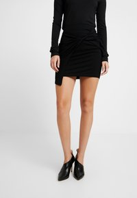 EDITED - PHILA SKIRT - Wrap skirt - black - 0