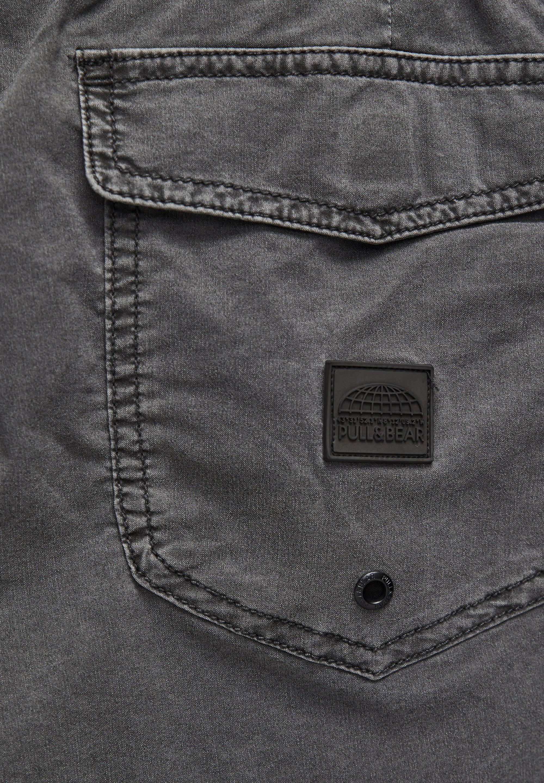 PULL&BEAR MIT KONTRASTFARBENEM STREIFEN AN DER SEITE - Swimming shorts - mottled dark grey