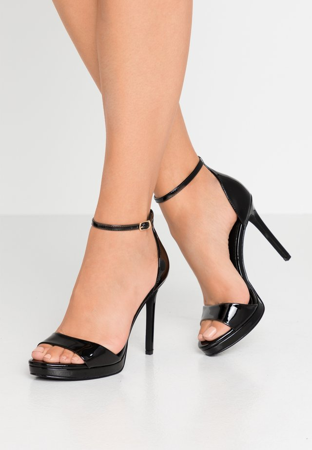 FLASHYY - High heeled sandals - black