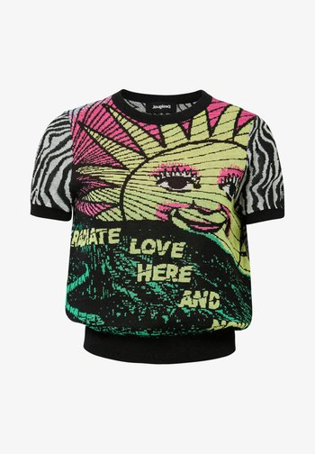 ZEBRA  - Print T-shirt - black