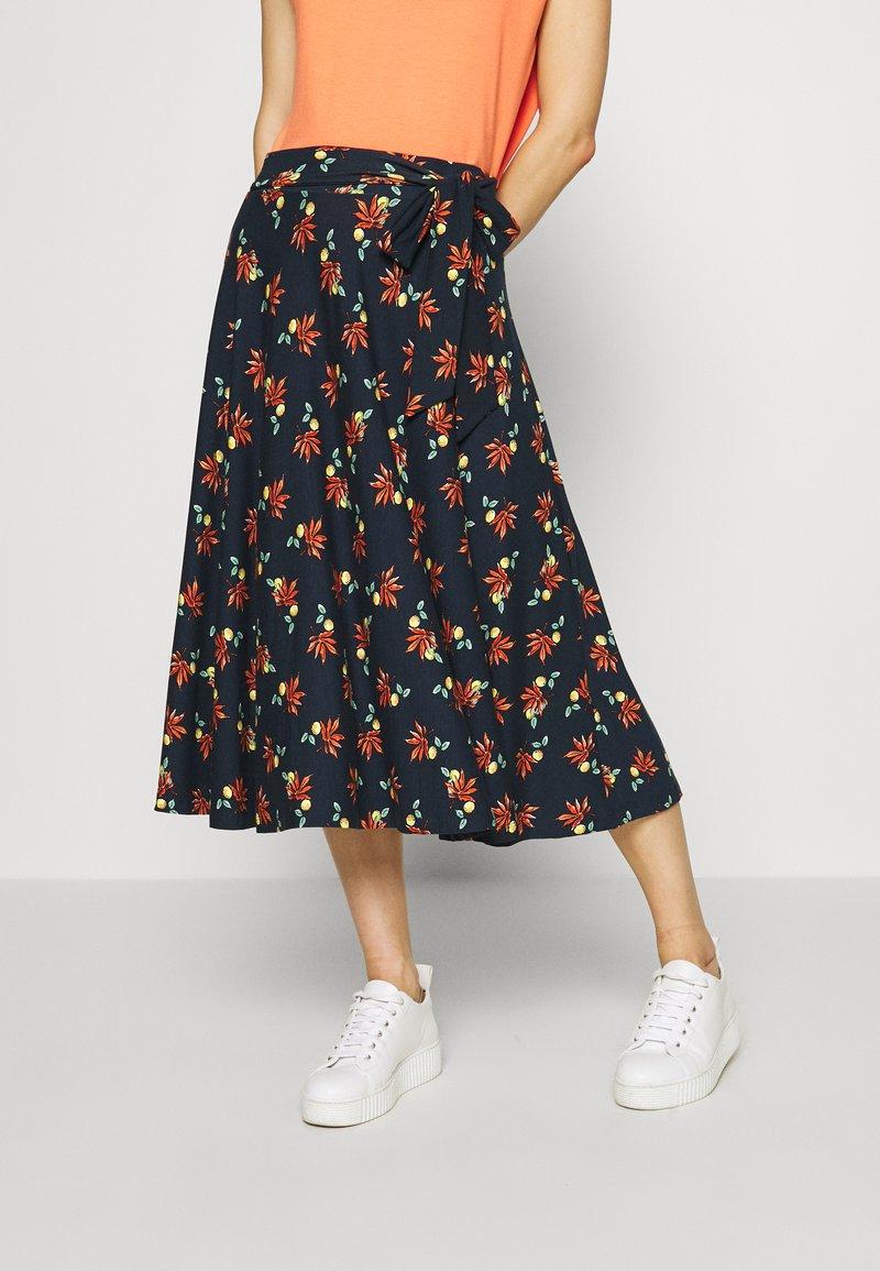Esprit - SKIRT - Áčková sukně - navy