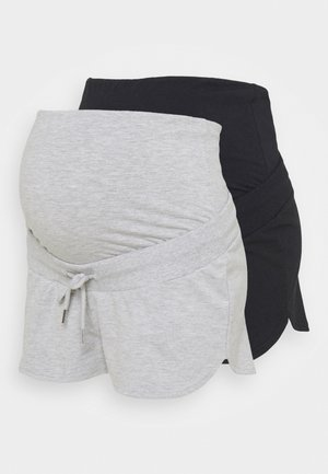 2 PACK - Shortsit - black/mottled light grey