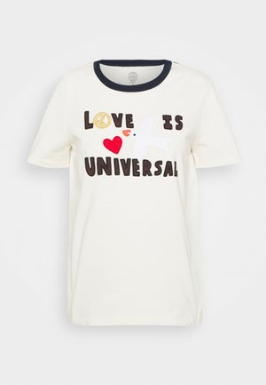 LOVE IS UNIVERSAL - Triko spotiskem - new ivory