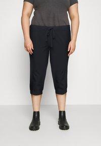 Kaffe Curve - CAPRI PANTS - Trousers - midnight marine - 0