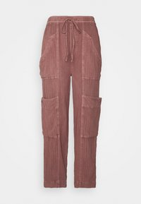Free People - FEELIN GOOD UTILITY PULL - Trousers - mauve - 0