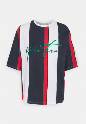 UNISEX - T-shirts print - blue/red/white
