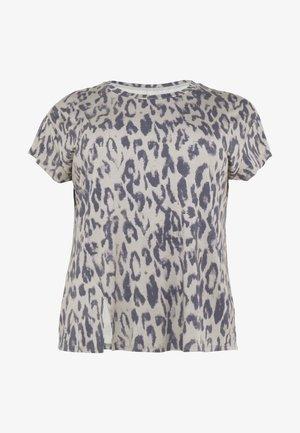 SLIT - T-shirt med print - sand