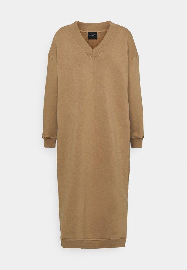 SLFHAZEL LONG DRESS - Korte jurk - tigers eye