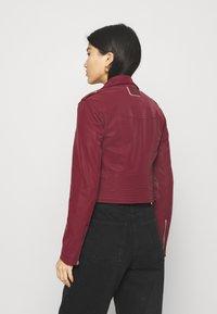 Guess - NEW KHLOE JACKET - Faux leather jacket - deep burgundy - 2