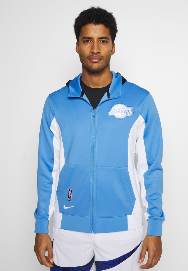 NBA LOS ANGELES LAKERS CITY EDITON THERMAFLEX FULL ZIP JACKET - Club wear - coast/white/pure platinum