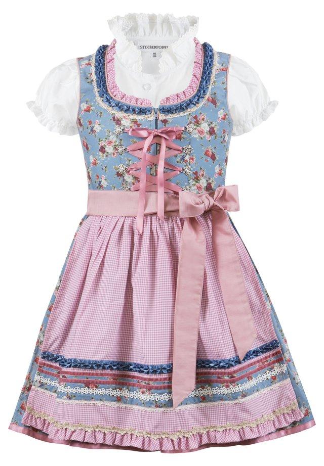 EMMA - Dirndl - rauchblau-rose