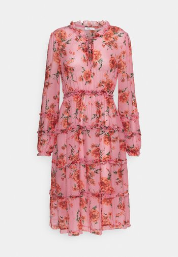 DRESS - Kjole - pink/red/forest green