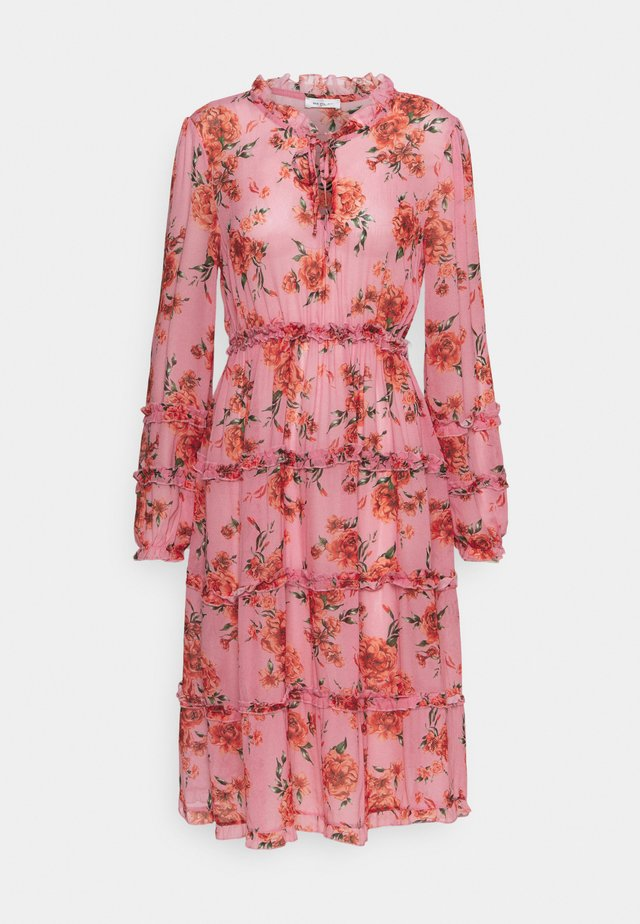 DRESS - Sukienka letnia - pink/red/forest green