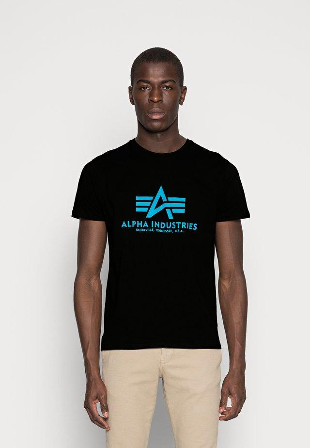 RAINBOW  - Print T-shirt - black/blue