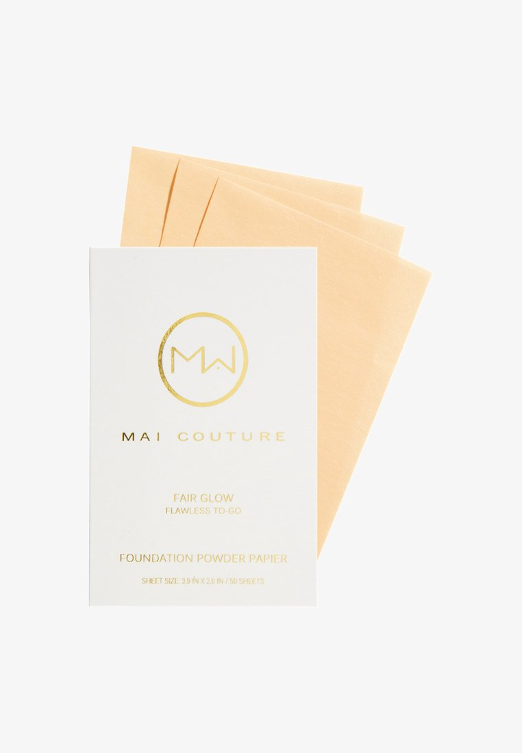 Mai Couture - FOUNDATION POWDERED PAPER 50 SHEETS - Foundation - fair glow