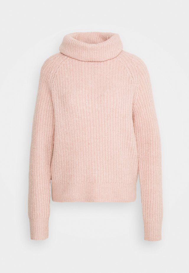 Roll neck- ribbed - Neule - rose