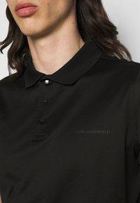 KARL LAGERFELD - PRESS BUTTON - Polo shirt - black - 5