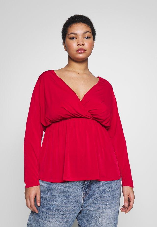 FORMAL WRAP - Camiseta de manga larga - red